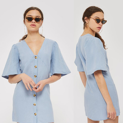 High Quality Wholesale Breathable Soft Loose Casual Shirt Dress Cotton